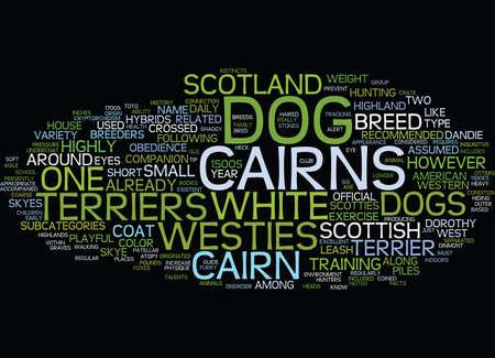 遊び心のある、好奇心旺盛な犬ケアーン ・ テリア本文背景単語雲の概念