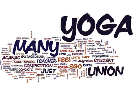 YOGA IS UNITY Text Background Word Cloud Concept