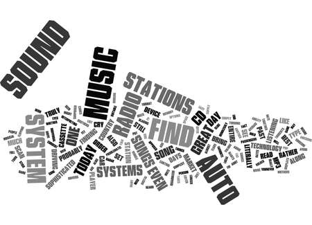 THE NEW TECHNOLOGY OF AUTO SOUND SYSTEMS Text Background Word Cloud Concept  イラスト・ベクター素材