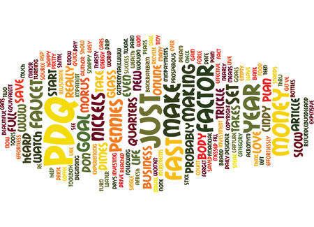 THE PDQ FACTOR Text Background Word Cloud Concept