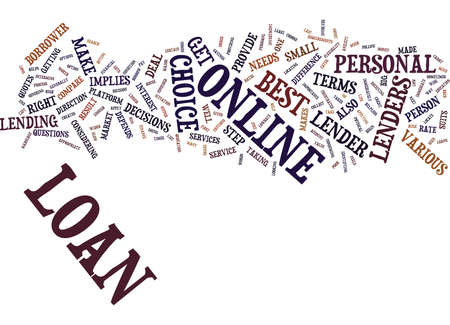 YOU ARE WORTH A BEST DEAL THROUGH ONLINE PERSONAL LOAN Text Background Word Cloud Concept