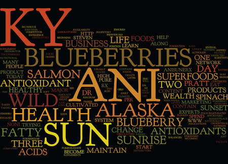 powerhouse: THE NEW KY ANI SUN THE ANTIOXIDANT LEADER Text Background Word Cloud Concept
