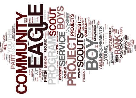THE EVIDENCE OF EAGLES Text Background Word Cloud Concept 向量圖像