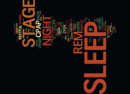 THE INABILITY TO USE CPAP FOR THE ENTIRE NIGHT Text Background Word Cloud Concept