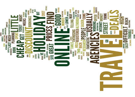 THE EASY WAY TO CHEAP HOLIDAY TRAVEL Text Background Word Cloud Concept
