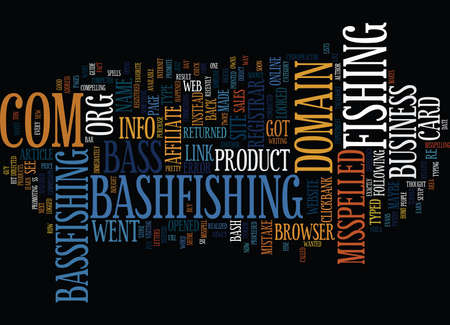 THE MISSPELLED DOMAIN NAME EXPERIMENT Text Background Word Cloud Concept