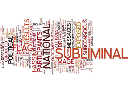 THE POWER OF SUBLIMINAL MESSAGES Text Background Word Cloud Concept Illustration