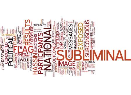 THE POWER OF SUBLIMINAL MESSAGES Text Background Word Cloud Concept Çizim