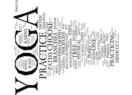 YOGA PATHS Text Background Word Cloud Concept