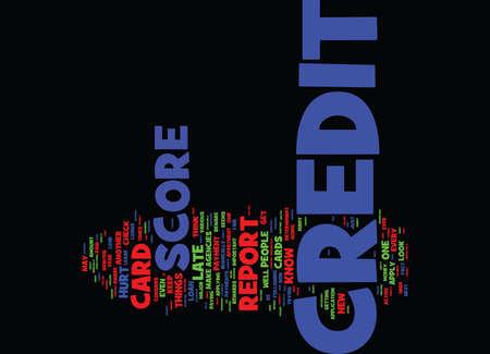 YOU ARE YOUR CREDIT SCORE S WORST ENEMY Text Background Word Cloud Concept Illusztráció