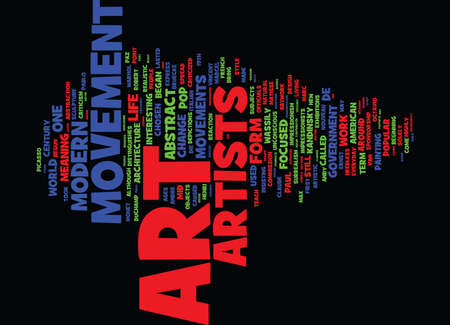 THE MODERN ART MOVEMENTS Text Background Word Cloud Concept Imagens - 82594045