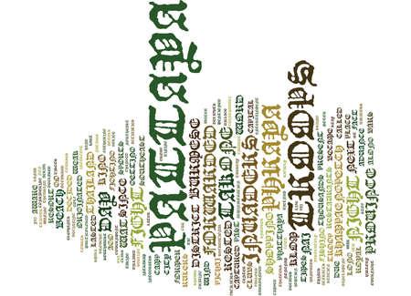 パタヤ タイ本文背景単語雲概念の今昔  イラスト・ベクター素材