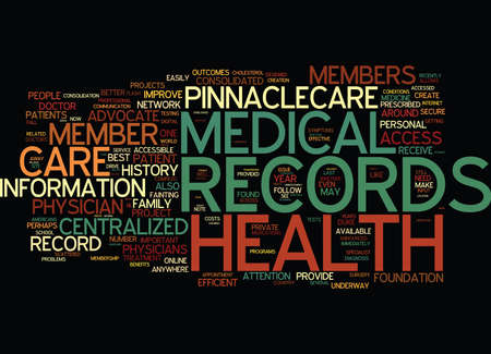 orthopedist: THE NEED FOR CENTRALIZED MEDICAL RECORDS Text Background Word Cloud Concept