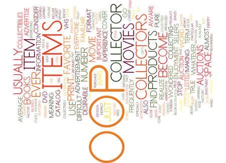 THE OOP FACTOR IN COLLECTIBLE ITEMS Text Background Word Cloud Concept Ilustrace