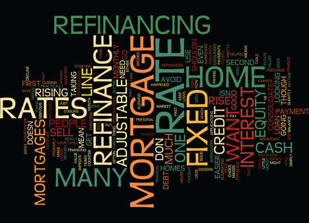 YOU MIGHT STILL WANT TO REFINANCE Text Background Word Cloud Concept 向量圖像