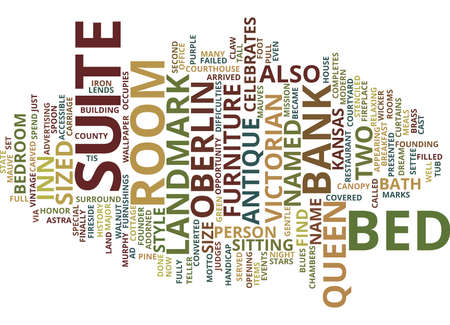 THE LANDMARK INN Text Background Word Cloud Concept
