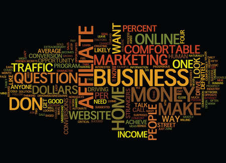 THE MOST COMFORTABLE WAY TO EARN MONEY ONLINE Text Background Word Cloud Concept