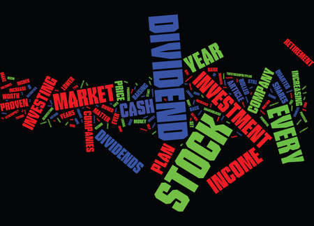 THE POWER OF A PROVEN STOCK INVESTMENT PLAN Text Background Word Cloud Concept