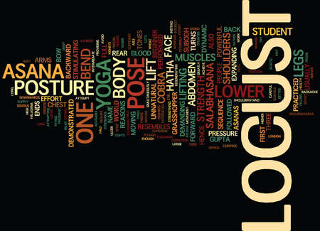 YOGA THREE REASONS YOU SHOULD NOT DO LOCUST Text Background Word Cloud Concept