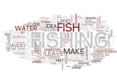 THE POLITE ANGLER Text Background Word Cloud Concept