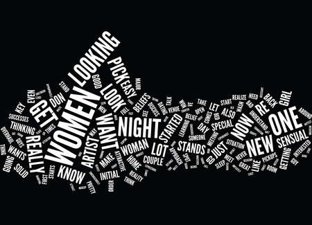 THE PICK UP ARTIST AND ONE NIGHT STANDS Text Background Word Cloud Concept