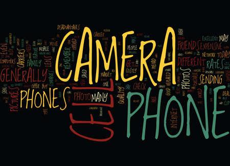 カメラ携帯電話テキスト背景単語雲概念のプロのと CON の S