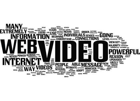 psp: THE POWER OF WEB VIDEO Text Background Word Cloud Concept