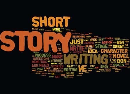 ロングとショート ストーリー テキスト背景単語雲概念の短い