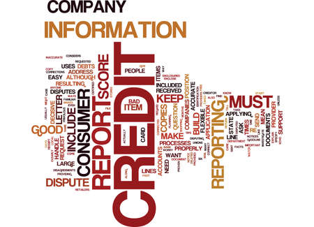 THE EASY WAY TO BUILD A GOOD CREDIT SCORE Text Background Word Cloud Concept