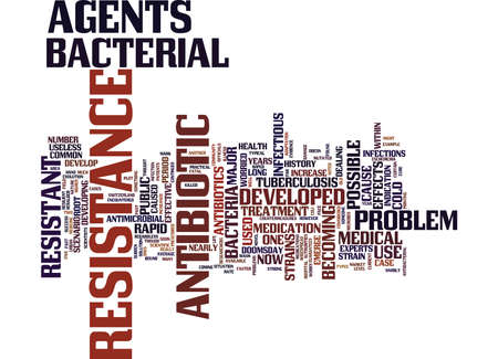 THE POSSIBLE DOOMSDAY CONSEQUENCES OF ANTIBIOTIC RESISTANCE Text Background Word Cloud Concept