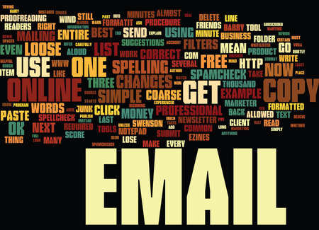 THE EMAIL MARKETER S THREE BEST FRIENDS Text Background Word Cloud Concept