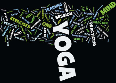 believes: YOGA FOR THE BEGINNER Text Background Word Cloud Concept