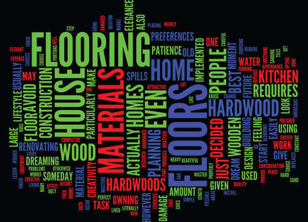 THE ELEGANCE OF HARDWOOD FLOORS Text Background Word Cloud Concept