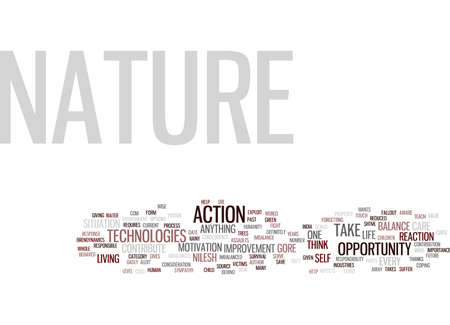 THE NATURE S OPPORTUNITY Text Background Word Cloud Concept
