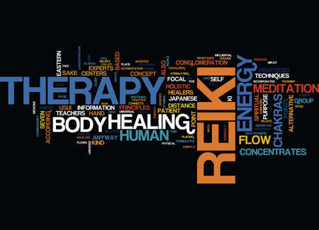 cloud based: THE MAGIC OF REIKI Text Background Word Cloud Concept