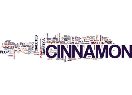 THE POWER OF CINNAMON Text Background Word Cloud Concept