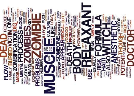 THE MEDICAL IDIOT S GUIDE TO ZOMBIES Text Background Word Cloud Concept