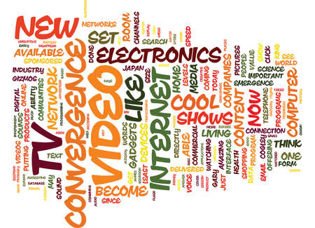 THE EMERGENCE OF CONVERGENCE Text Background Word Cloud Concept