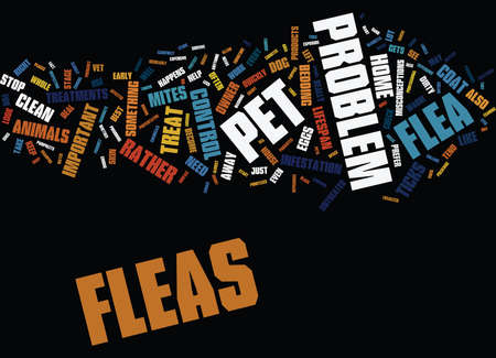 YIKES I SAW A FLEA ON MY DOG Text Background Word Cloud Concept
