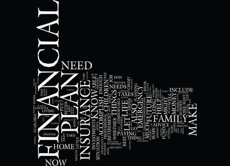 accomplish: THE MAIN GOALS A FINANCIAL PLAN SHOULD ACCOMPLISH Text Background Word Cloud Concept