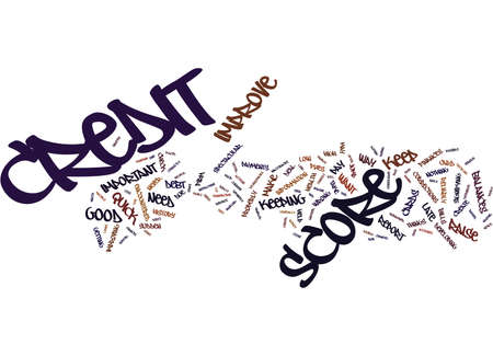 THE EASY WAY TO IMPROVE YOUR CREDIT SCORE Text Background Word Cloud Concept Ilustração