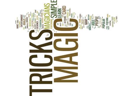 THE MAGICIANS MAGIC TRICKS Tekstachtergrond Word Cloud Concept