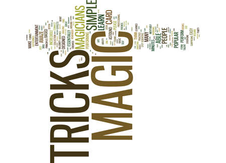 THE MAGICIANS MAGIC TRICKS Text Background Word Cloud Concept