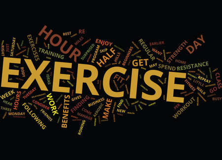 THE POWER WORKOUT Text Background Word Cloud Concept