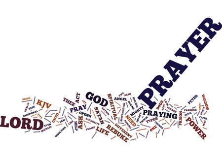 THE POWER OF PRAYER Text Background Word Cloud Concept