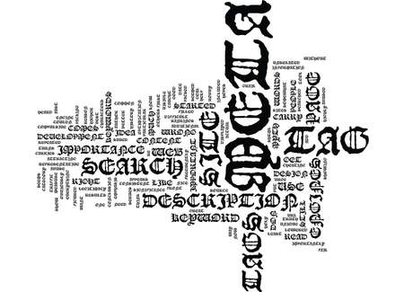 THE META TAG MYTH Text Background Word Cloud Concept