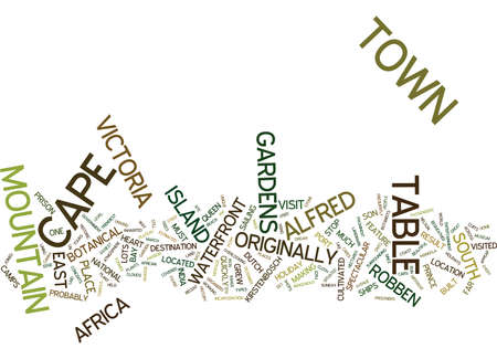 THE MAGIC OF CAPE TOWN Text Background Word Cloud Concept Illustration