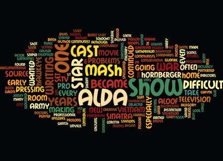 THE IRONIES OF MASH Text Background Word Cloud Concept Ilustração
