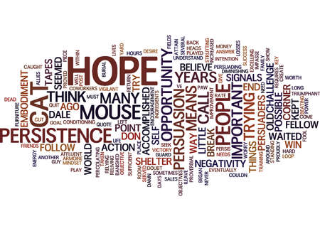 THE POWER OF PERSISTENCE Text Background Word Cloud Concept Illustration