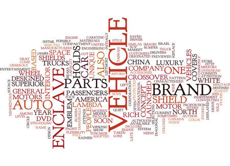 THE ENCLAVE CONCEPT Text Background Word Cloud Concept Ilustrace
